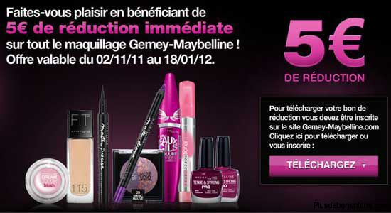 rduction maquillage gemey maybelline 