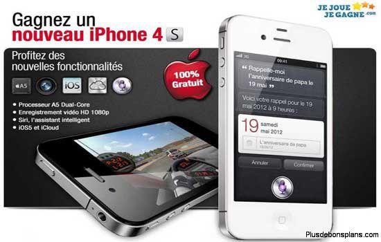gagner iphone 4s avec jejouejegagne