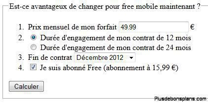 comparatif offre free mobile
