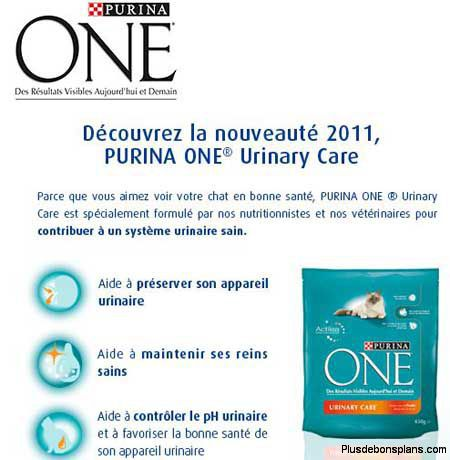 croquettes purina one chat gratuites