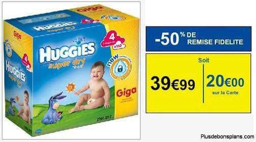 couches bebe huggies  pourcent rembourses