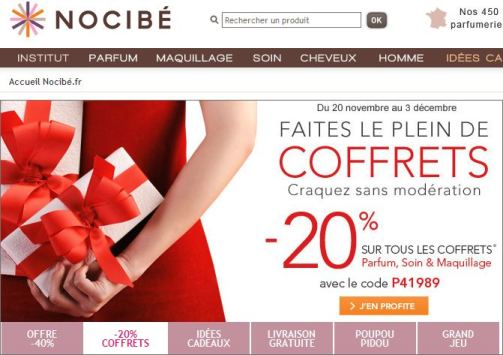 Coupons reduction nocibe