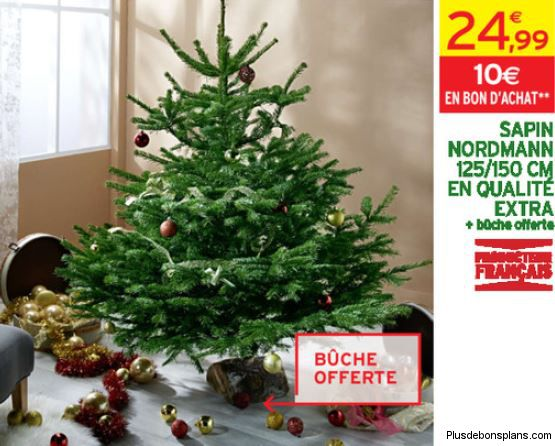 sapin intermarch noel 2014 moins cher 1 buche offerte. Black Bedroom Furniture Sets. Home Design Ideas