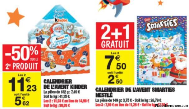 calendrier de l 39 avent kinder 2014 moins cher auchan. Black Bedroom Furniture Sets. Home Design Ideas