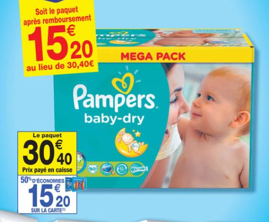 Couches pampers chez carrefour market 50 rembours es - Promo couche pampers carrefour ...