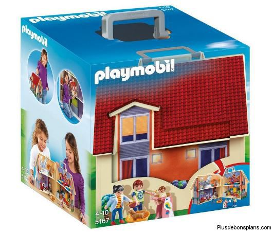 maison playmobil transportable 28 04 livraison gratuite. Black Bedroom Furniture Sets. Home Design Ideas