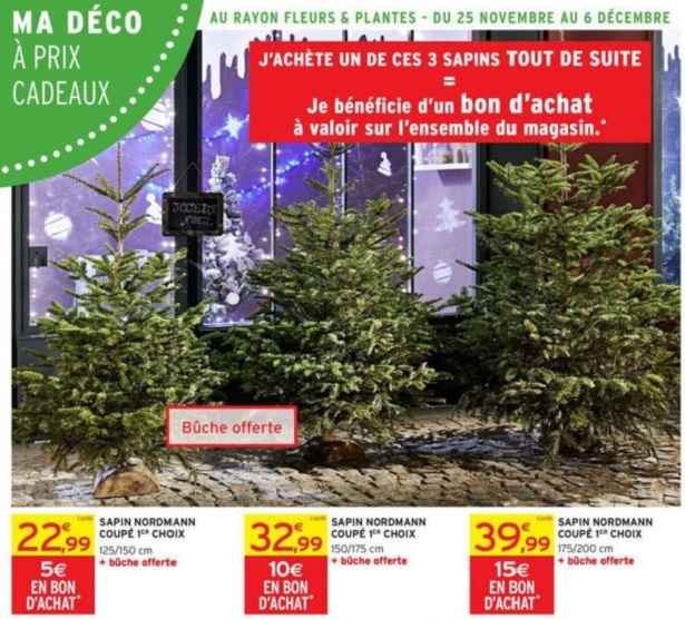 sapin de noel artificiel intermarche. Black Bedroom Furniture Sets. Home Design Ideas