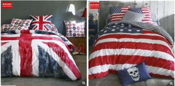 housses de couette anglais old flag ou us flag 80. Black Bedroom Furniture Sets. Home Design Ideas