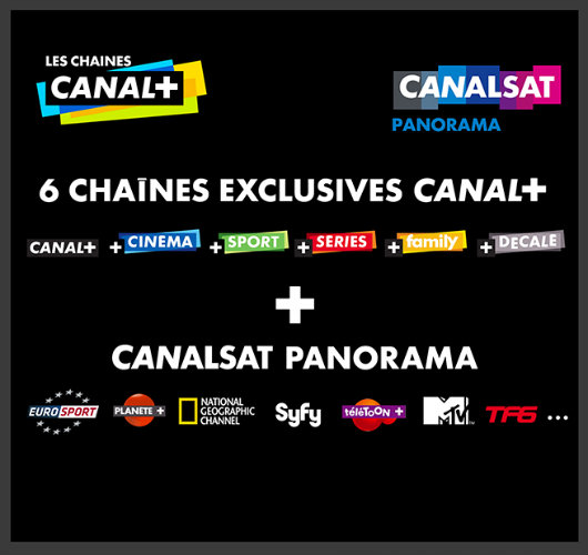 vente priv e canal canalsat abonnement partir de par mois. Black Bedroom Furniture Sets. Home Design Ideas