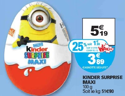 oeuf kinder minion