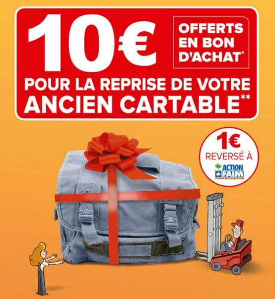 Cartable a roulette super u