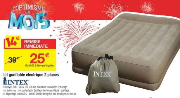 carrefour lit matelas gonflable lectrique 2 personnes 25. Black Bedroom Furniture Sets. Home Design Ideas