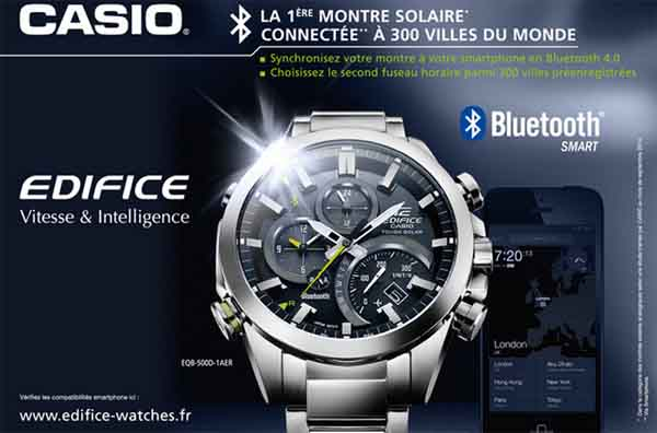 100 montres solaires connect es casio edifice en test gratuit. Black Bedroom Furniture Sets. Home Design Ideas