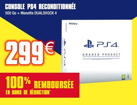 auchan black friday console ps4 100 rembours e plus de bons plans. Black Bedroom Furniture Sets. Home Design Ideas