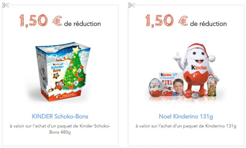 bon de réduction kinder noël 2016
