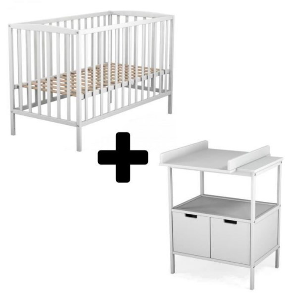 Cdiscount lot lit b b et table langer 99 - Table a langer lit bebe ...