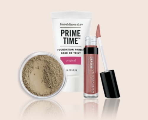 maquillage Flash Bare Beauty et de 3 miniatures offertes avec BareMinerals et Sephora