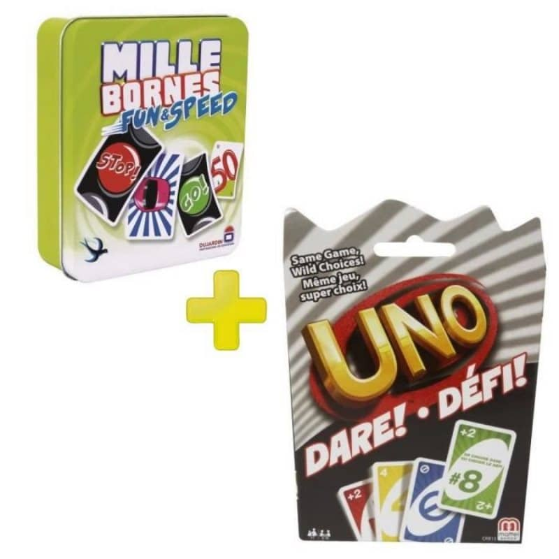 pack jeux mille bornes uno folie 9 99. Black Bedroom Furniture Sets. Home Design Ideas