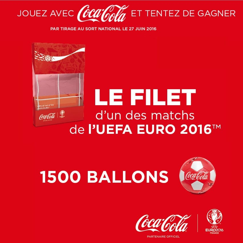 coca cola euro 2016 1 500 ballons de foot gagner. Black Bedroom Furniture Sets. Home Design Ideas