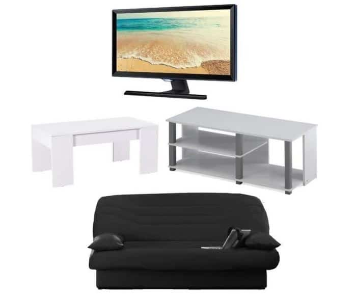 tv samsung full hd meuble tv clic clac table basse 400. Black Bedroom Furniture Sets. Home Design Ideas
