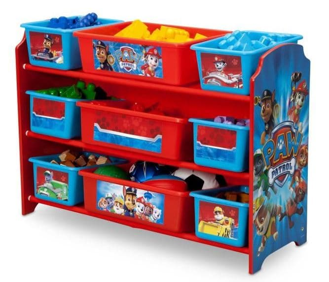 meuble rangement 9 bacs plastiques 40 patpatrouille cars minnie. Black Bedroom Furniture Sets. Home Design Ideas