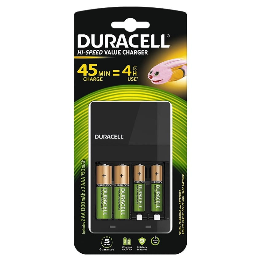 duracell chargeur piles rechargeables 9 90 au lieu de. Black Bedroom Furniture Sets. Home Design Ideas