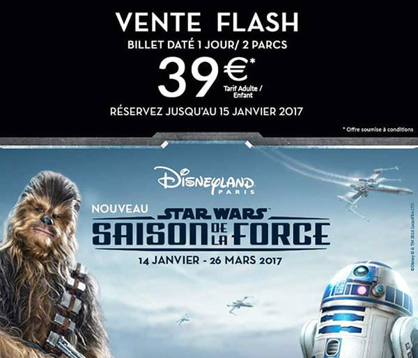 vente flash billet disneyland paris