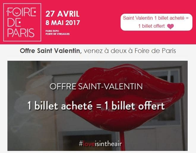 foire de paris 2017 1 billet achet 1 gratuit 50 de r duction. Black Bedroom Furniture Sets. Home Design Ideas