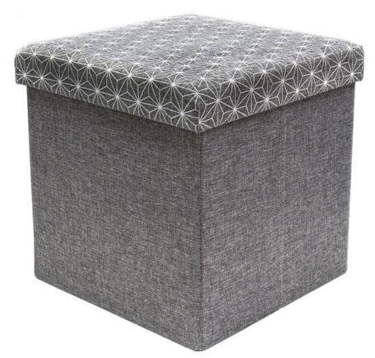 cdiscount pouf coffre de rangement pliable 12 99. Black Bedroom Furniture Sets. Home Design Ideas