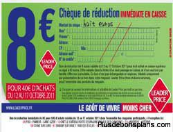 8 euros reduction leader price