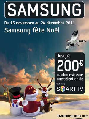 tv samsung led smart noel 2011 jusqu 39 200 euros rembours s. Black Bedroom Furniture Sets. Home Design Ideas