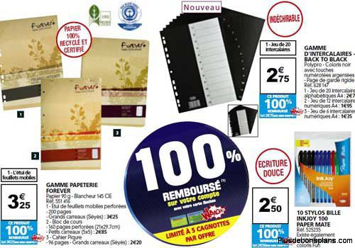 fournitures scolaires remboursees auchan