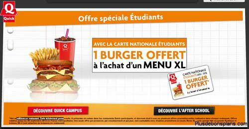 carte etudiant quick 2016