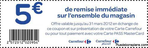 bon de reduction carrefour 5 euros