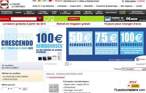 bons plans et code promo darty
