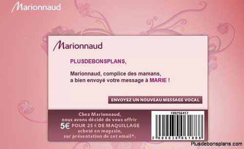 5 euros reduction maquillage marionnaud