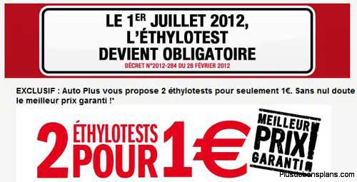 2 ethylotests a 1 euro avec auto plus