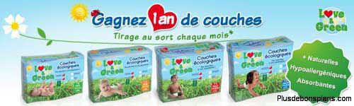 gagner 1 an couches gratuites love and green