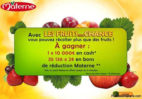 pack compote materne gratuit