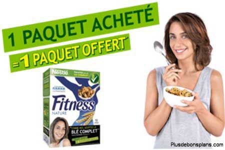 paquet cereales fitness nestle offert