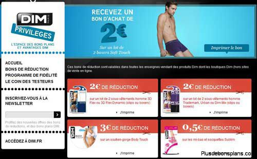 bons de reduction dim