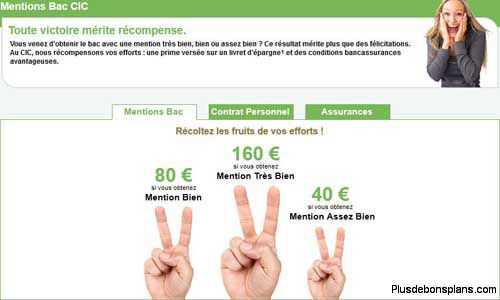 prime banque cic bac 2012 mention