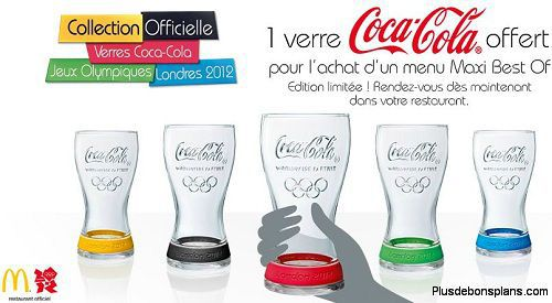 verres coca cola 2012 mc do