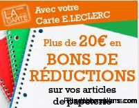 bons reduction rentree scolaire 2012 lelcerc