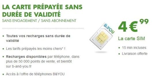 carte prépayee b and you