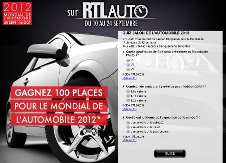 mondial de l 39 automobile 2012 gagner des entr es gratuites. Black Bedroom Furniture Sets. Home Design Ideas