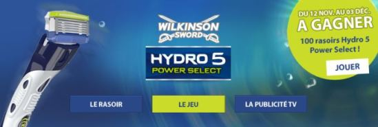 jeu wilkinson rasoir hydro 5 power select