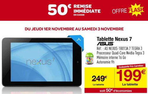tablette google nexus 7 sur rueducommerce