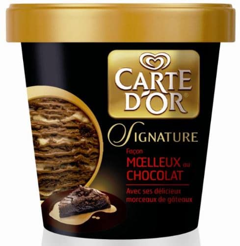 pot de glace carte d'or signature