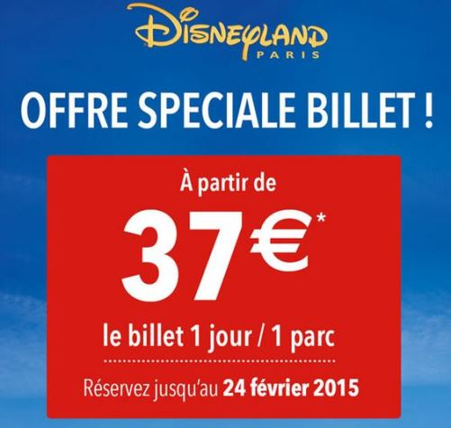 Billet Disneyland Paris En Vente Flash A Partir De 37